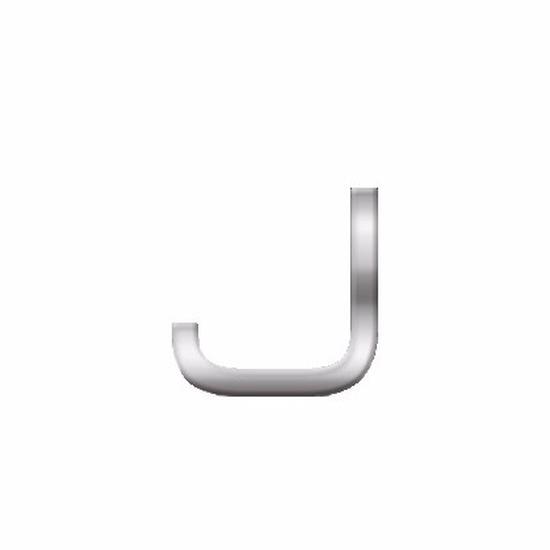 Namen stickers letter J van 2,5 cm