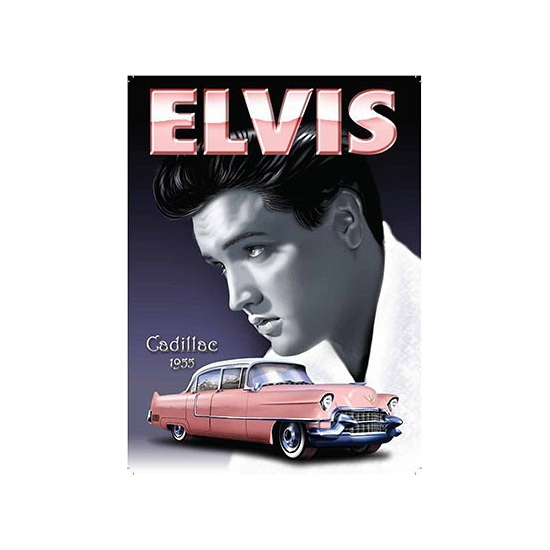 Nostalgische reclame borden Elvis Cadillac