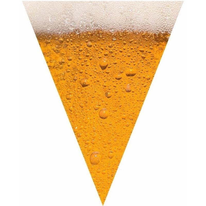 Oktoberfest - Bier print vlaggenlijn - slinger 6 meter