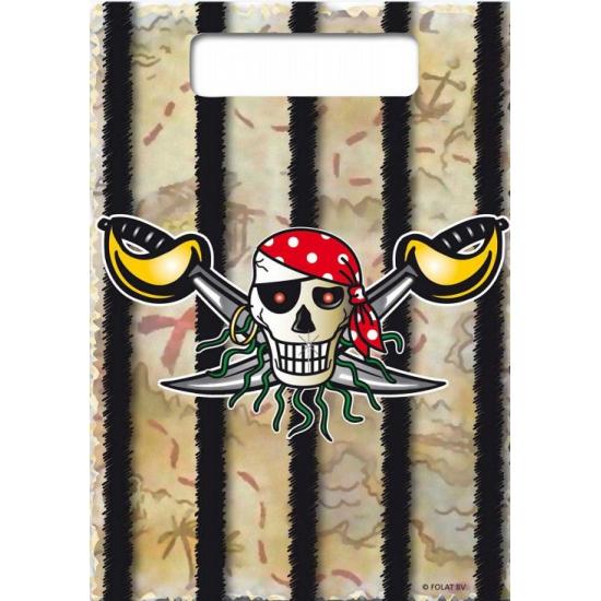 Piraten feestje uitdeelzakjes 8x