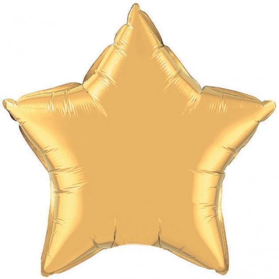 Qualatex gouden ster folie ballon 50 cm