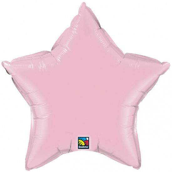 Qualatex licht roze ster folie ballon 50 cm