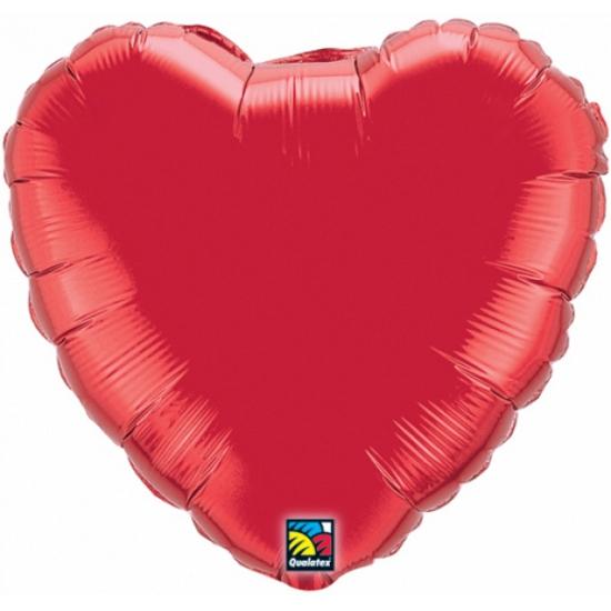 Qualatex rood hart folie ballon 45 cm