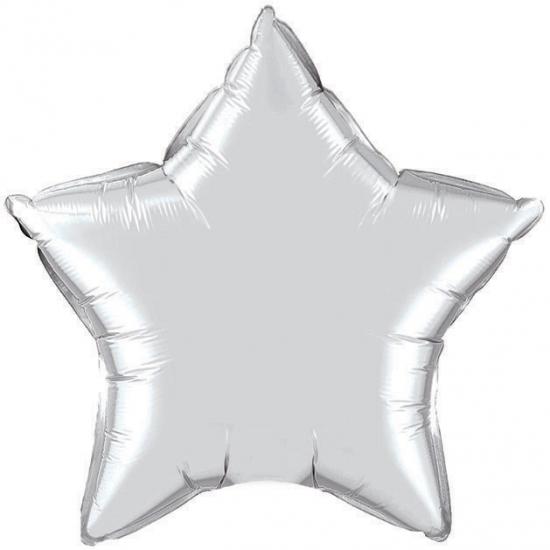 Qualatex zilveren ster folie ballon 50 cm