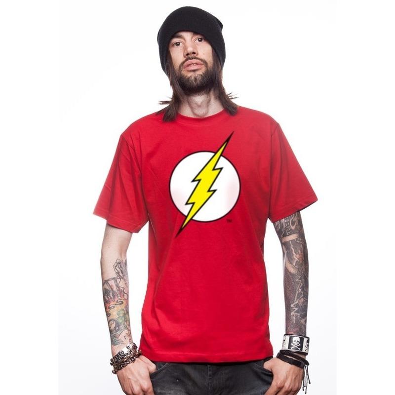 Rood tshirt met bliksem voor heren
