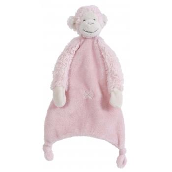 Roze baby tutteldoekje 28 cm
