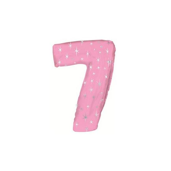 Roze folie ballon nummer 7