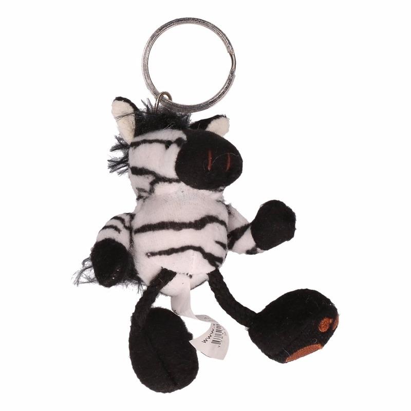 Sleutelhanger pluche zebra knuffeldier