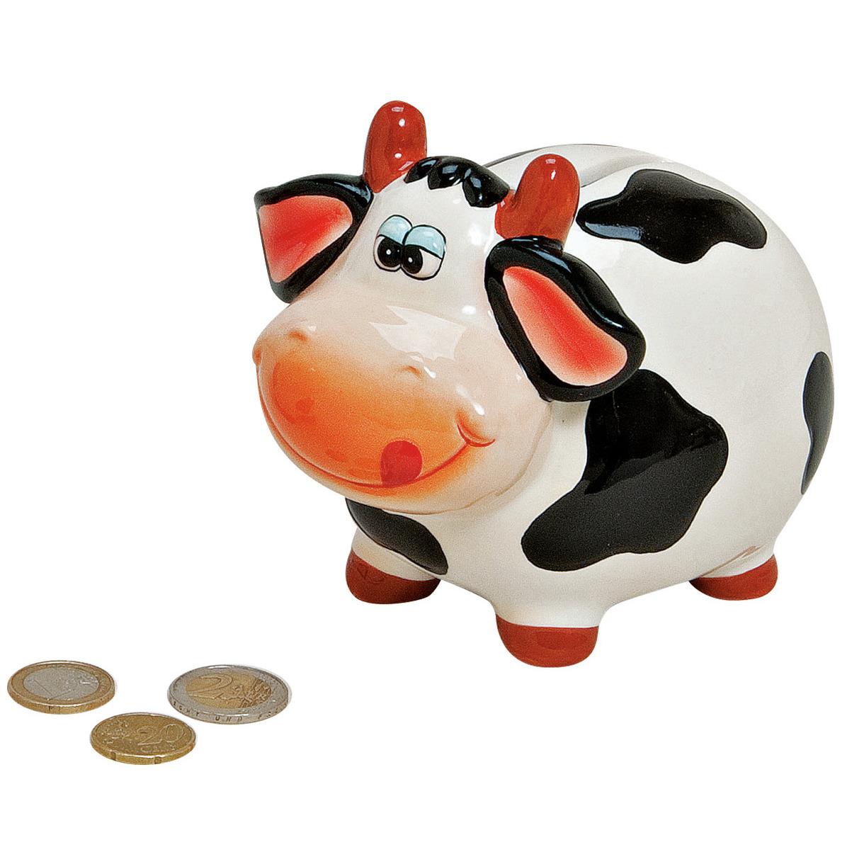 Spaarpot koe met tong 12 cm