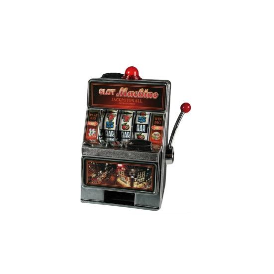 Spaarpotten in de vorm van speelautomaat