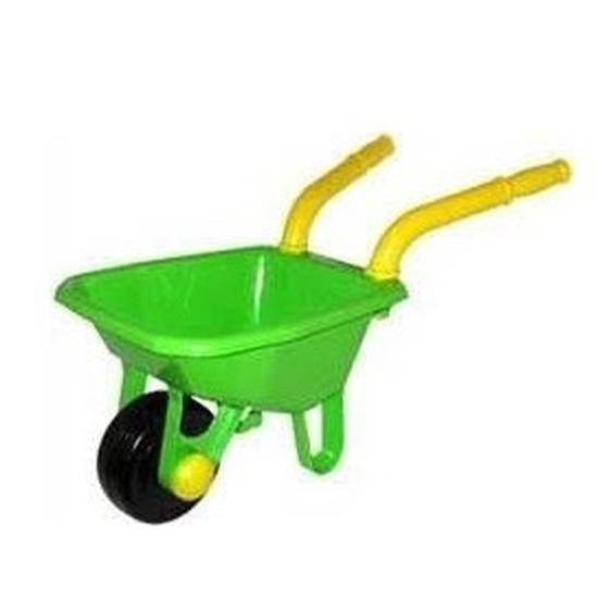 Speelgoed kruiwagen groen 25 x 66 cm