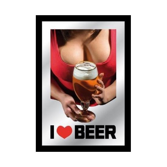 Spiegel I love Beer met tieten
