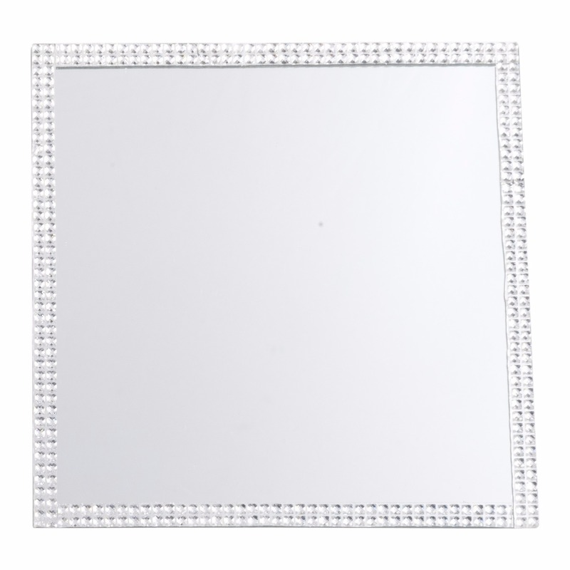 Spiegel kaarsen onderzetter vierkant