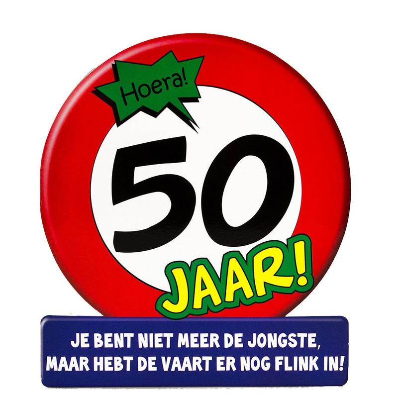 Stopbord wenskaart 50 jaar feestelijke kaart voor 50 verjaardag