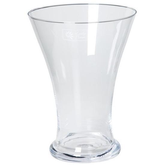 Taps uitlopende vaas glas 25 cm