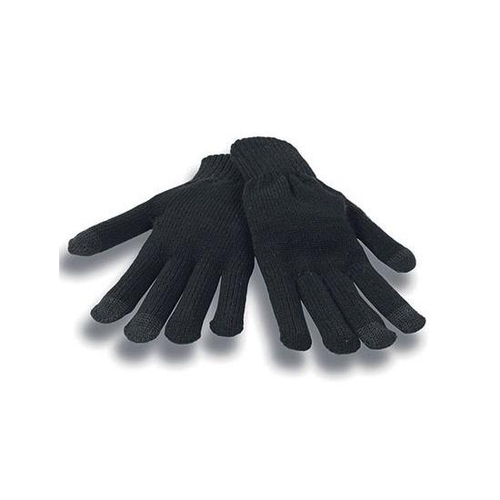 Touchscreen handschoenen zwart voor volwassenen