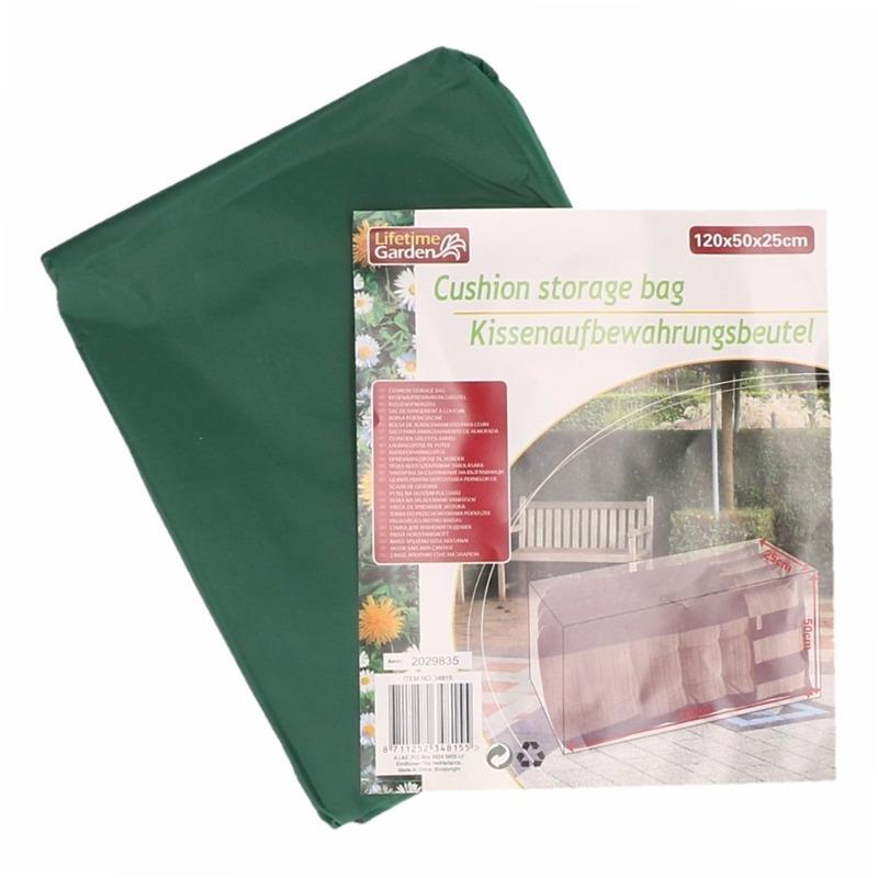 Tuinkussen opberghoes 120 x 50 x 25 cm groen