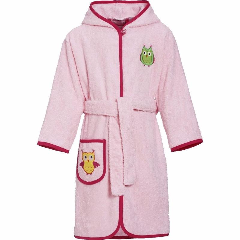 Uilen kleding roze badjas