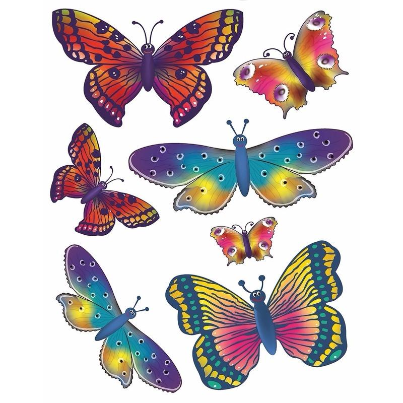 Velletje met Raamstickers vlinders thema