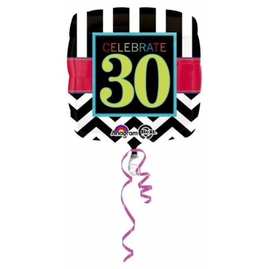Verjaardag versiering folie ballon 30 jaar