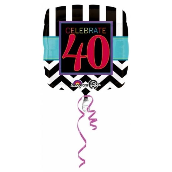 Verjaardag versiering folie ballon 40 jaar