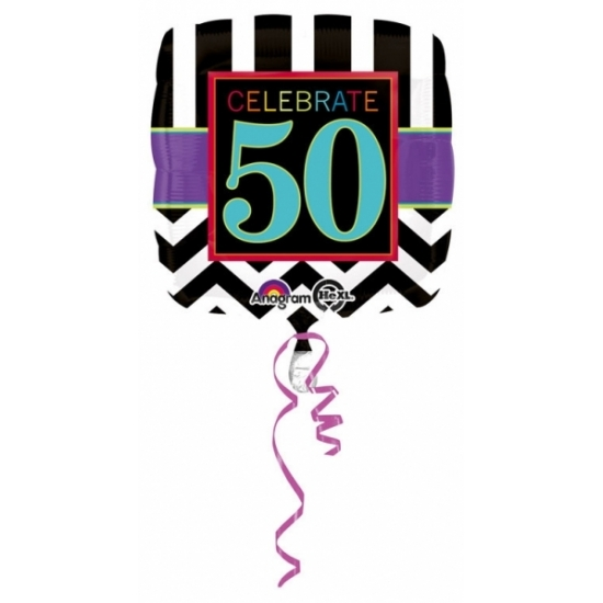 Verjaardag versiering folie ballon 50 jaar