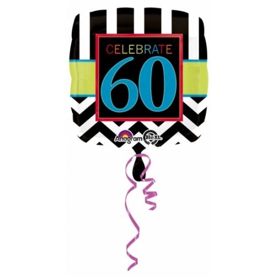 Verjaardag versiering folie ballon 60 jaar