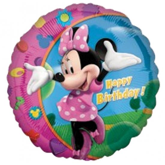 Verjaardagsballonnen van folie Minnie Mouse