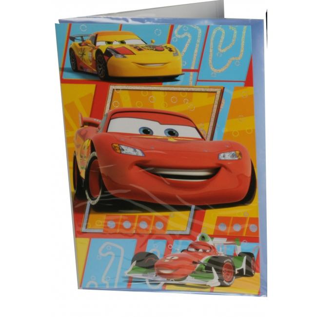 Verjaardagskaart extra groot van Cars