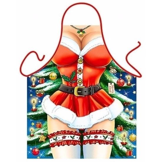 Verkleedkleding schort Kerst miss