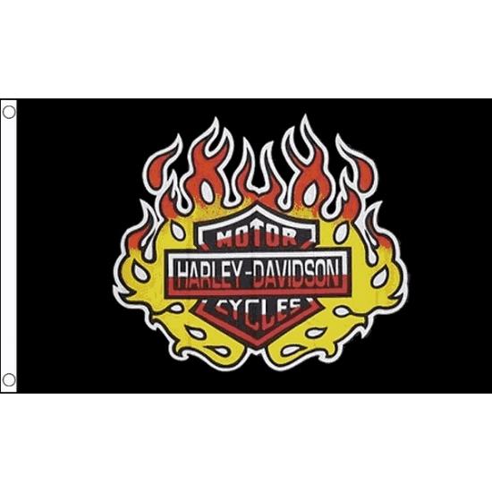 Vlag met Harley Davidson print