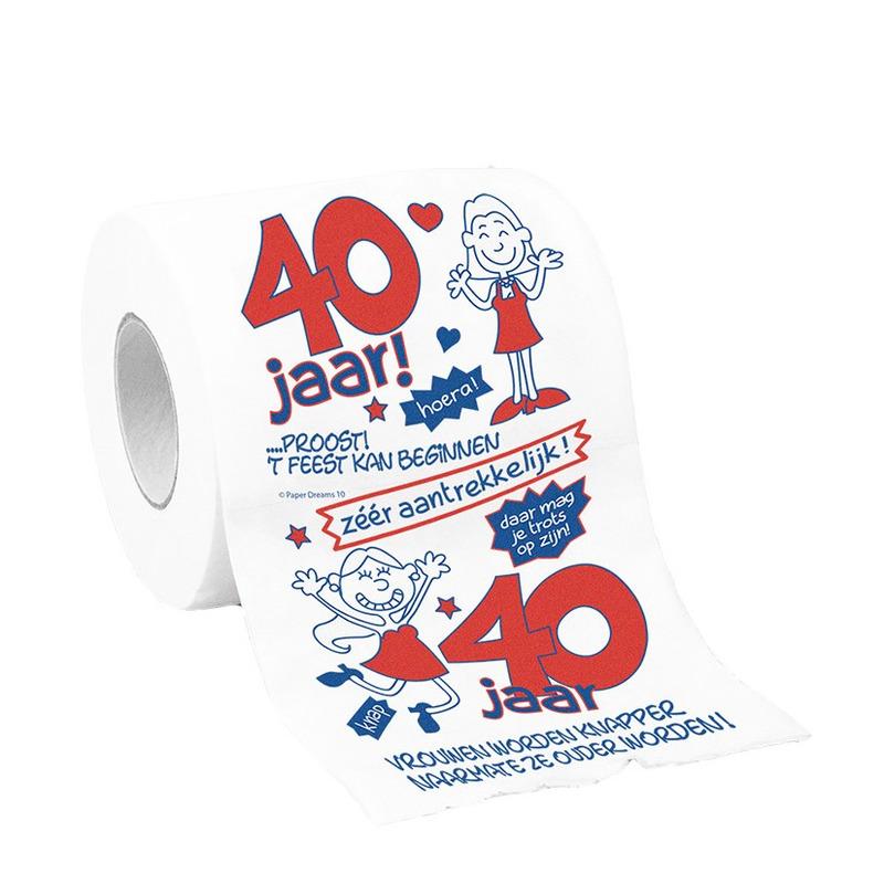 Vrouwen wc papier 40 jaar