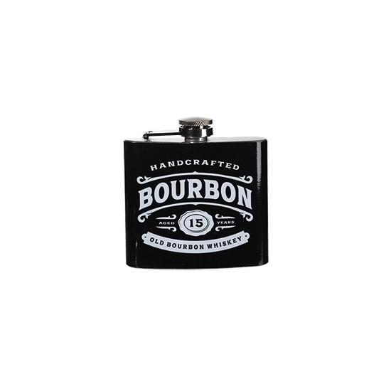 Zakflacon bourbon rvs zwart