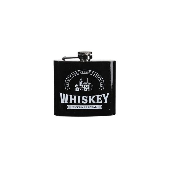 Zakflacon whiskey rvs zwart
