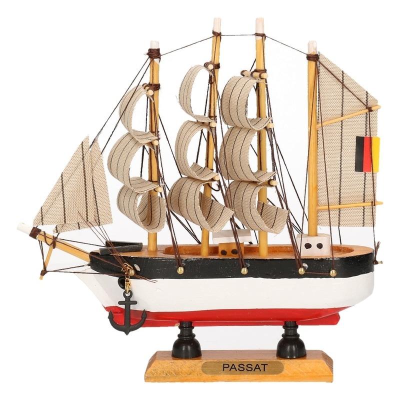 Zeeschip decoratie Passat 16 cm