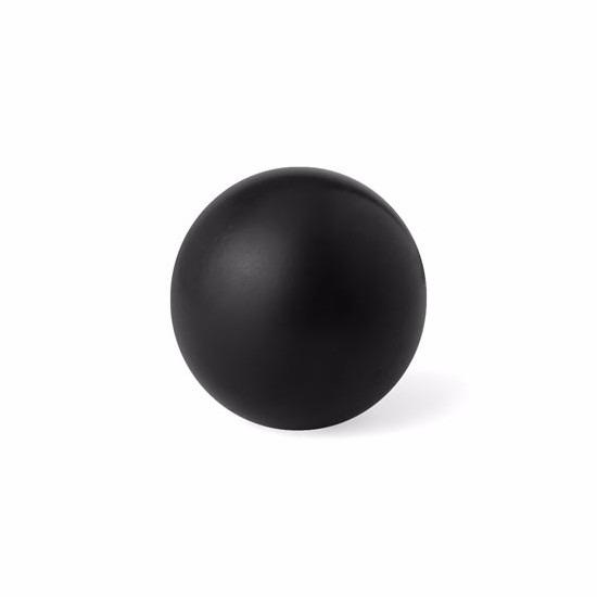 Zwarte anti stressbal 6 cm