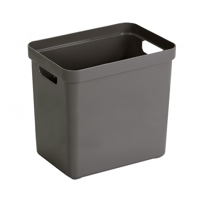 1x Taupe bruine opbergboxen/opbergmanden 25 liter kunststof