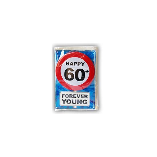 60 jaar ansichtkaart met button