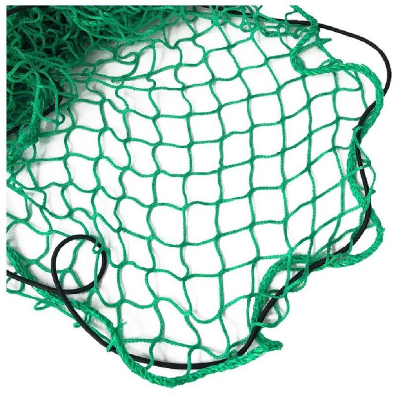 Aanhanger net met elastiek groen 300 x 160 cm