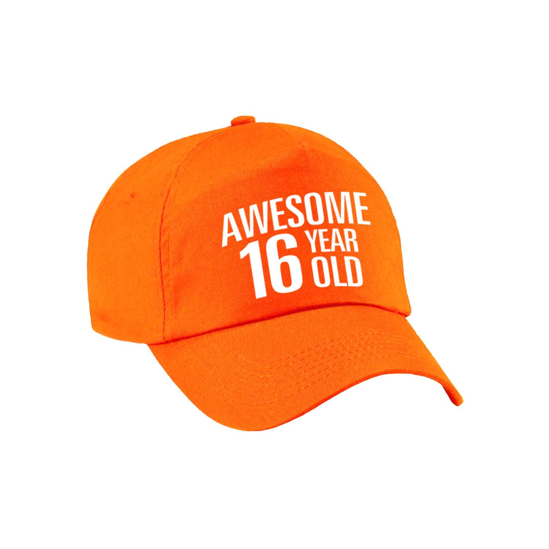 Awesome 16 year old verjaardag pet - cap oranje voor dames en heren
