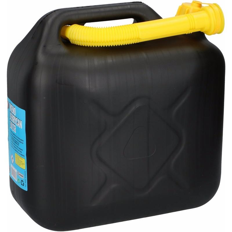Benzine Jerrycan 10 liter in het zwart