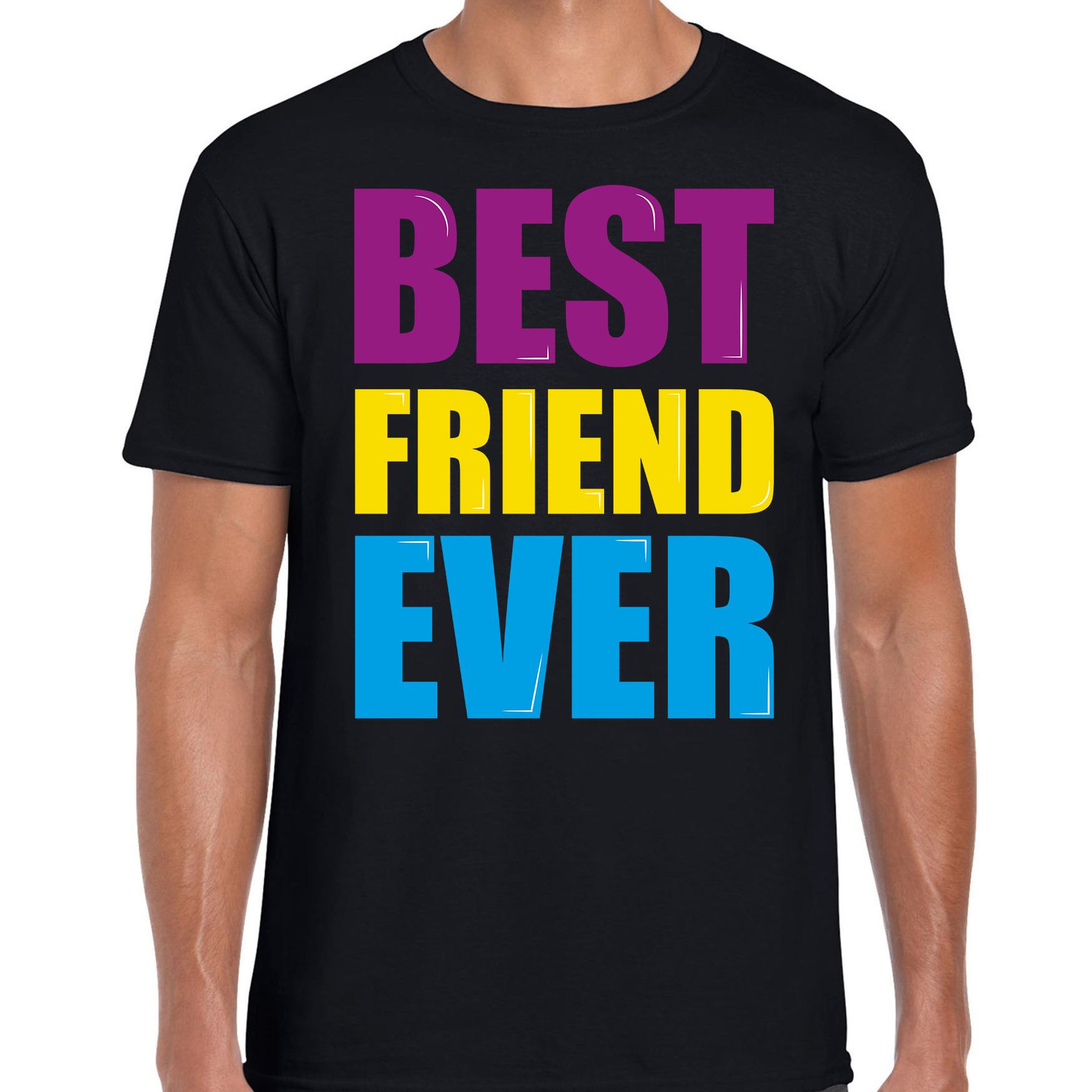 Best friend ever - Beste vriend ooit fun t-shirt zwart heren