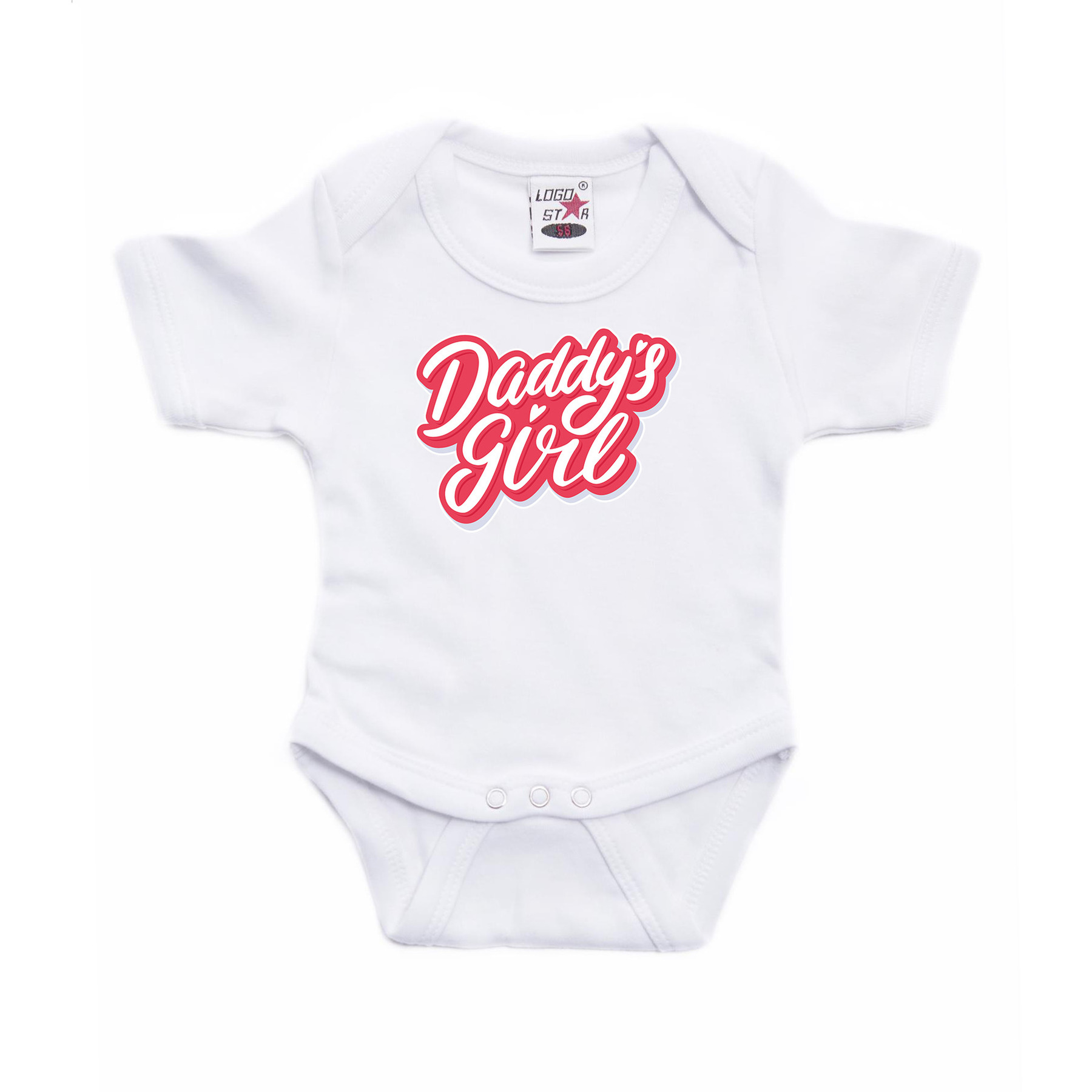 Daddys girl geboorte cadeau romper wit voor babys