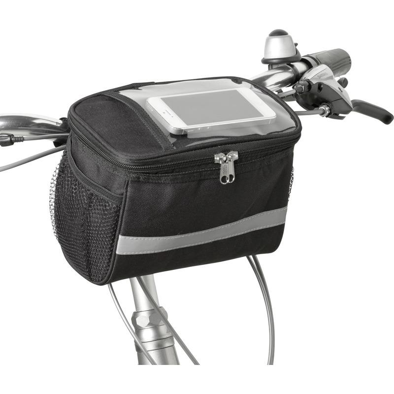 Fiets koeltas/stuurtas fietskoeltas zwart/grijs 4 liter