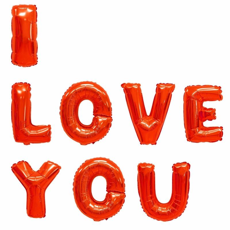 Folie ballonnen I Love You 40 cm