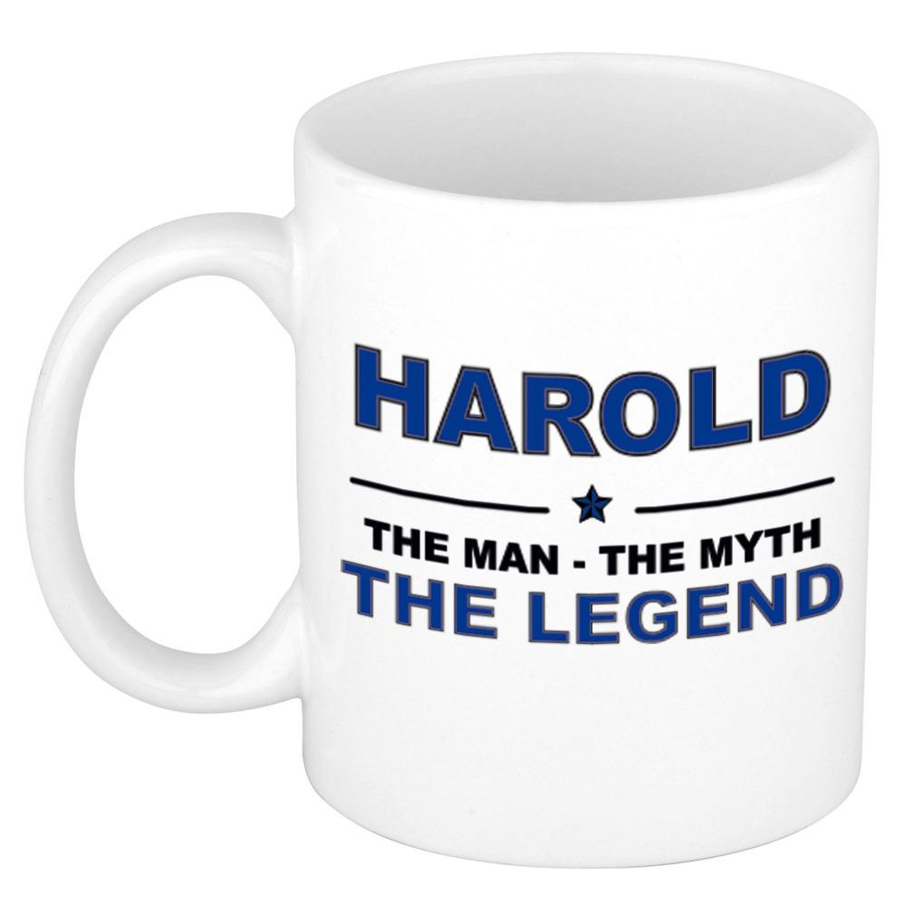 Harold The man, The myth the legend bedankt cadeau mok/beker 300 ml keramiek
