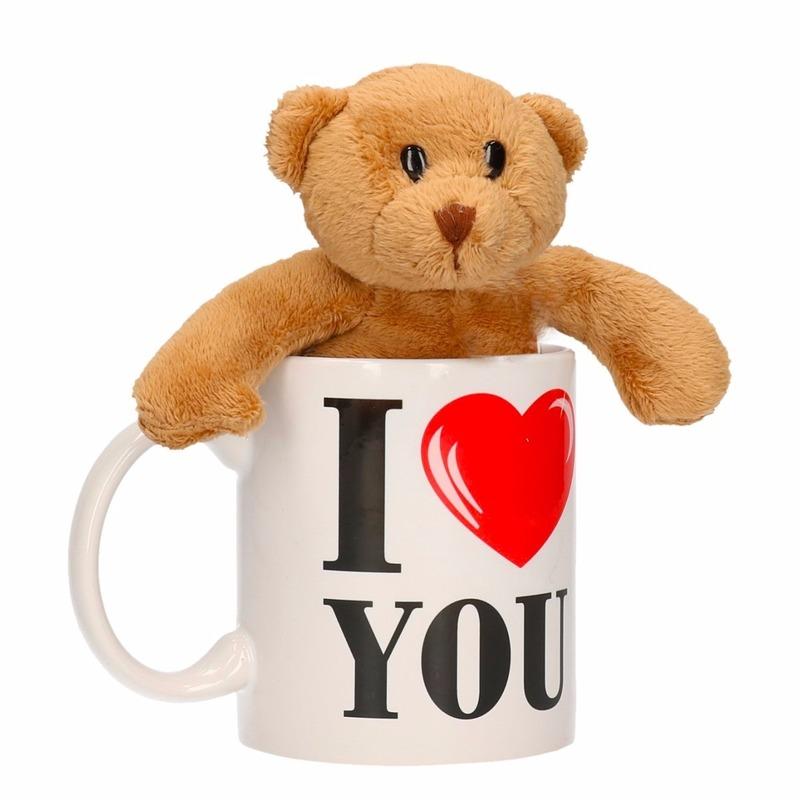 I Love You mok met knuffelbeertje