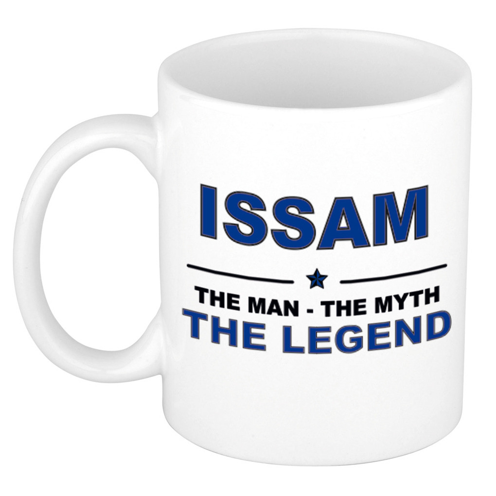 Issam The man, The myth the legend bedankt cadeau mok/beker 300 ml keramiek