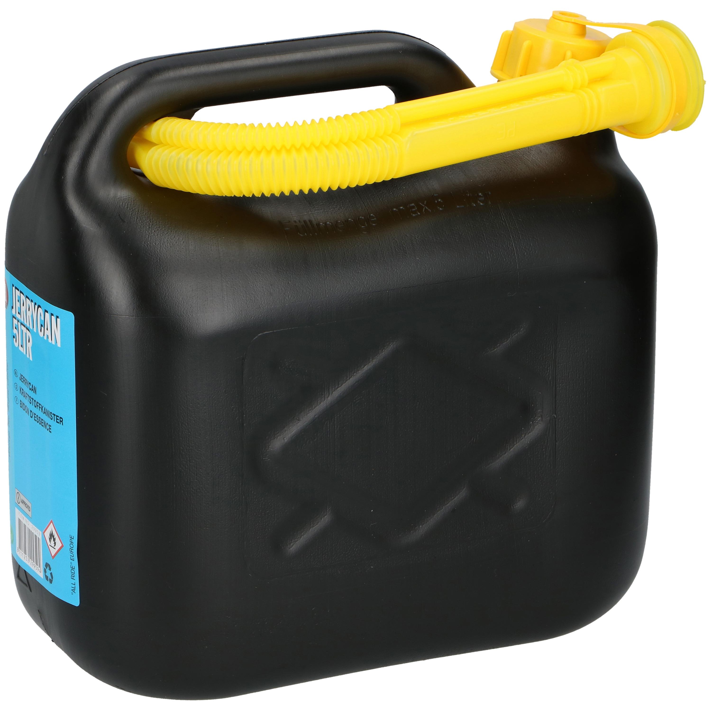 Jerrycan - benzinetank 20 liter zwart met trechter