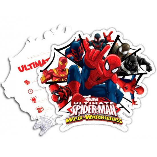 Kinderverjaardag Spiderman Warriors uitnodigingen